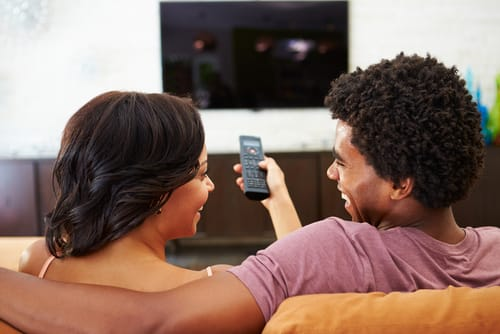 couple with remote